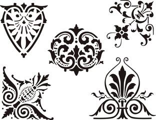 antique decorative elemens