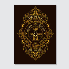 Wedding Invitation Card - Typography and Calligraphic Design