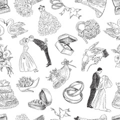 pattern of the wedding symbols