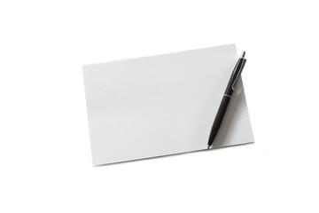 Notiz zettel mit kuli, kugelschreiber