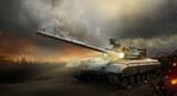 Heavy armor in the fire of battle - 69546953