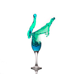 Champagne Glass Liquid Splash