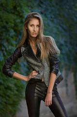Fashion model. Outdoors shot