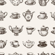 pattern of the teacups and teapots - 69547545