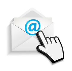 Design Concept Email Write Icon Vector Illustration