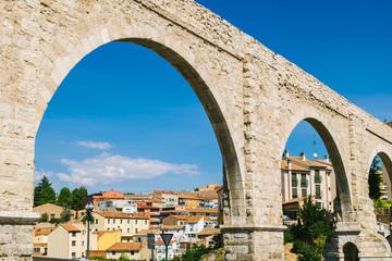Los Arcos Aqueduct in Teruel Old Town, Aragon, Spain