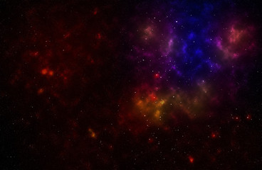 Colorful background od a deep space star field