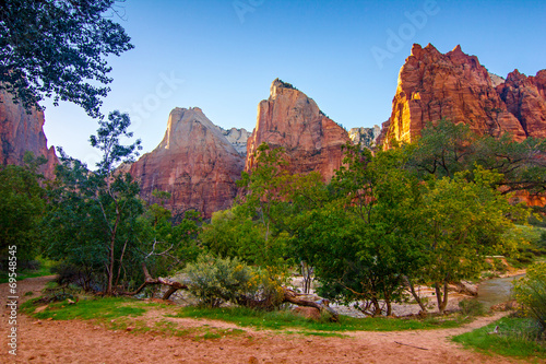 Leinwanddruck Bild Canyon Zion