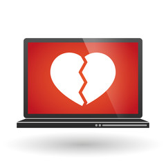 Laptop with a heart