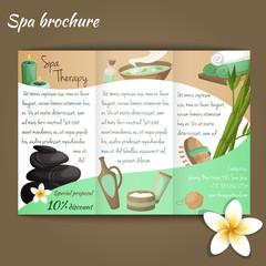 Spa salon brochure