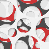 Abstract Circles Geometric Background. Vector Illustration. - 69549744