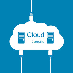 Cloud computing concept. Modern design template.