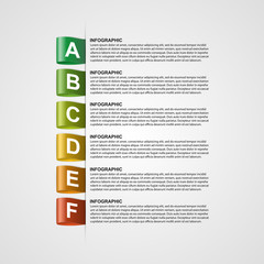 Modern design creative infographic with colorful labels.
