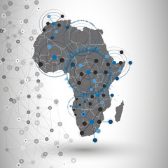 Africa map background vector, illustration for communication