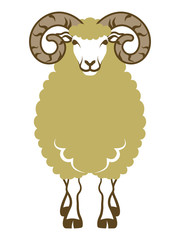 Sheep front view-Clip art