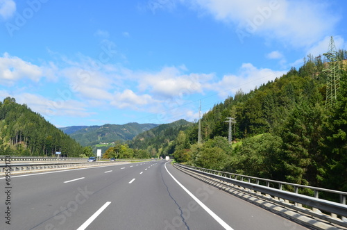 canvas print picture alpenautobahn