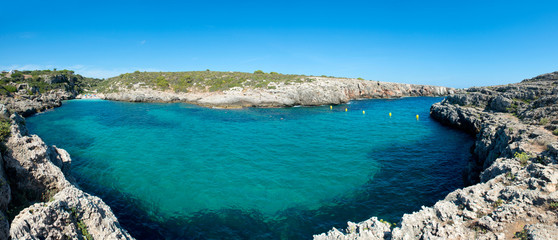 Binidali Beach in Menorca, Spain