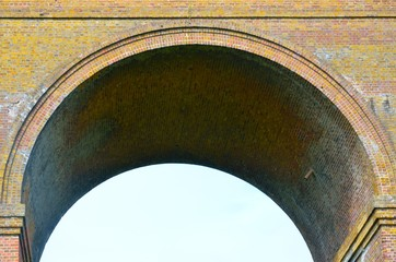 Close up of viaduct arch