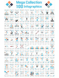 MEGA COLLECTIONS 100 INFOGRAPHICS CLOUD TIMELINE BUSINNESSMAN poster