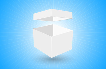 scatola, pacco, vuoto, bianco