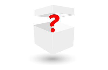 incognita, scatola, pacco, vuoto, bianco