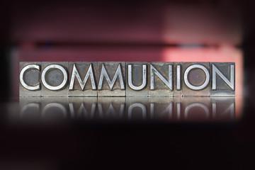 Communion Letterpress