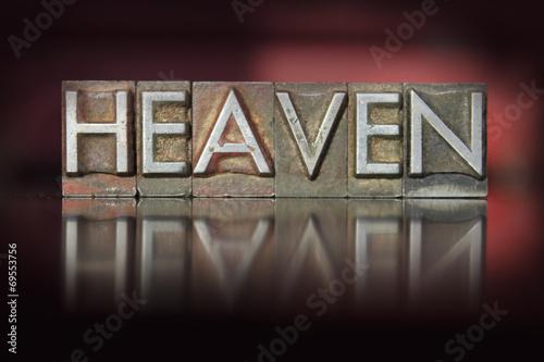 canvas print picture Heaven Letterpress