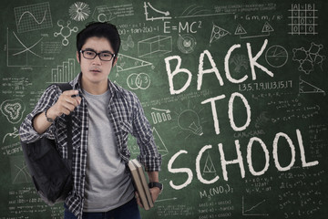 Student gives command for back to school