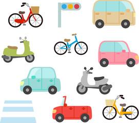 自家用車と二輪車
