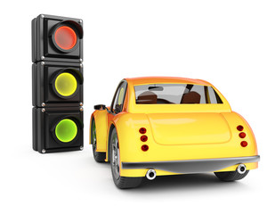 Car and traffic light