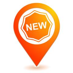 nouveau sur symbole localisation orange