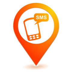 sms sur symbole localisation orange