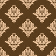 Floral seamless pattern with brown and beige colors