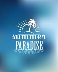 Summer Paradise poster design