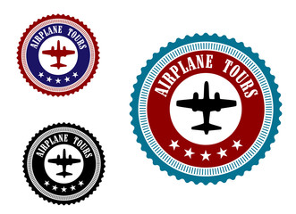 Aviation symbol with airplane