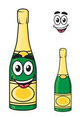 Carton champagne or sparkling wine bottle