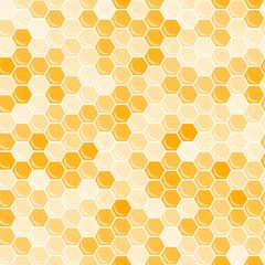 Orange honeycomb background.
