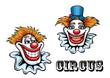 Circus cartoon clowns characters