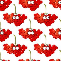 Cartoon red berry seamless pattern