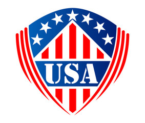 Usa heraldic shield symbol