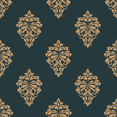 Retro ochre seamless pattern