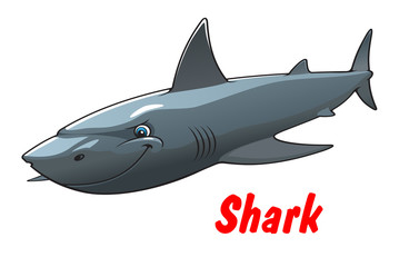 Dangerous cartoon shark character