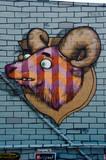 Ram mural graffiti on the textured wall - 69557345