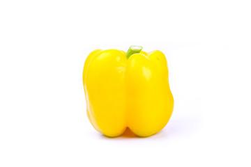 yellow paprika on a white screen