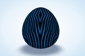 Boy Zebra Print Egg