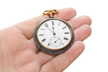 Retro watch in hand