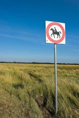 Achtung Pferde Schild