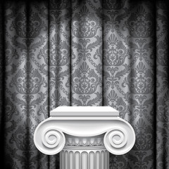 Capital on gray background