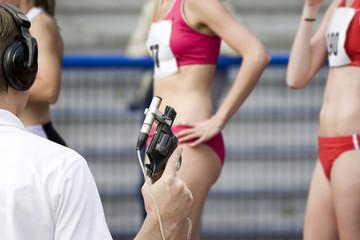 Läuferinnen am Start