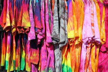 Tee shirt tie and dye - T-shirt tie and dye